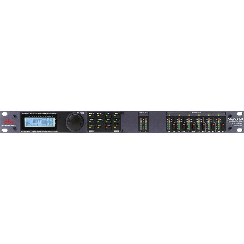 dbx driverack 260 loudspeaker management system dbx260v b h. Black Bedroom Furniture Sets. Home Design Ideas