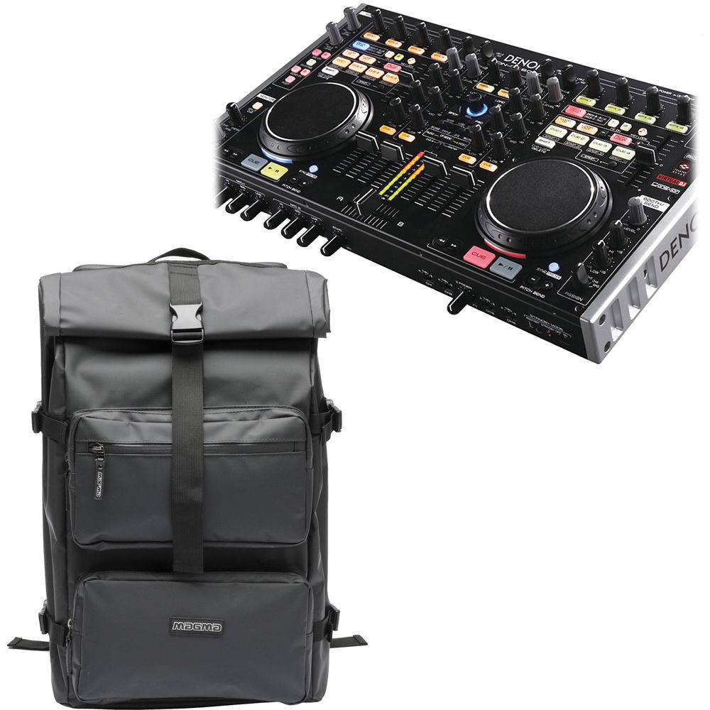 denon dj denon mc6000 digital dj controller and backpack kit. Black Bedroom Furniture Sets. Home Design Ideas