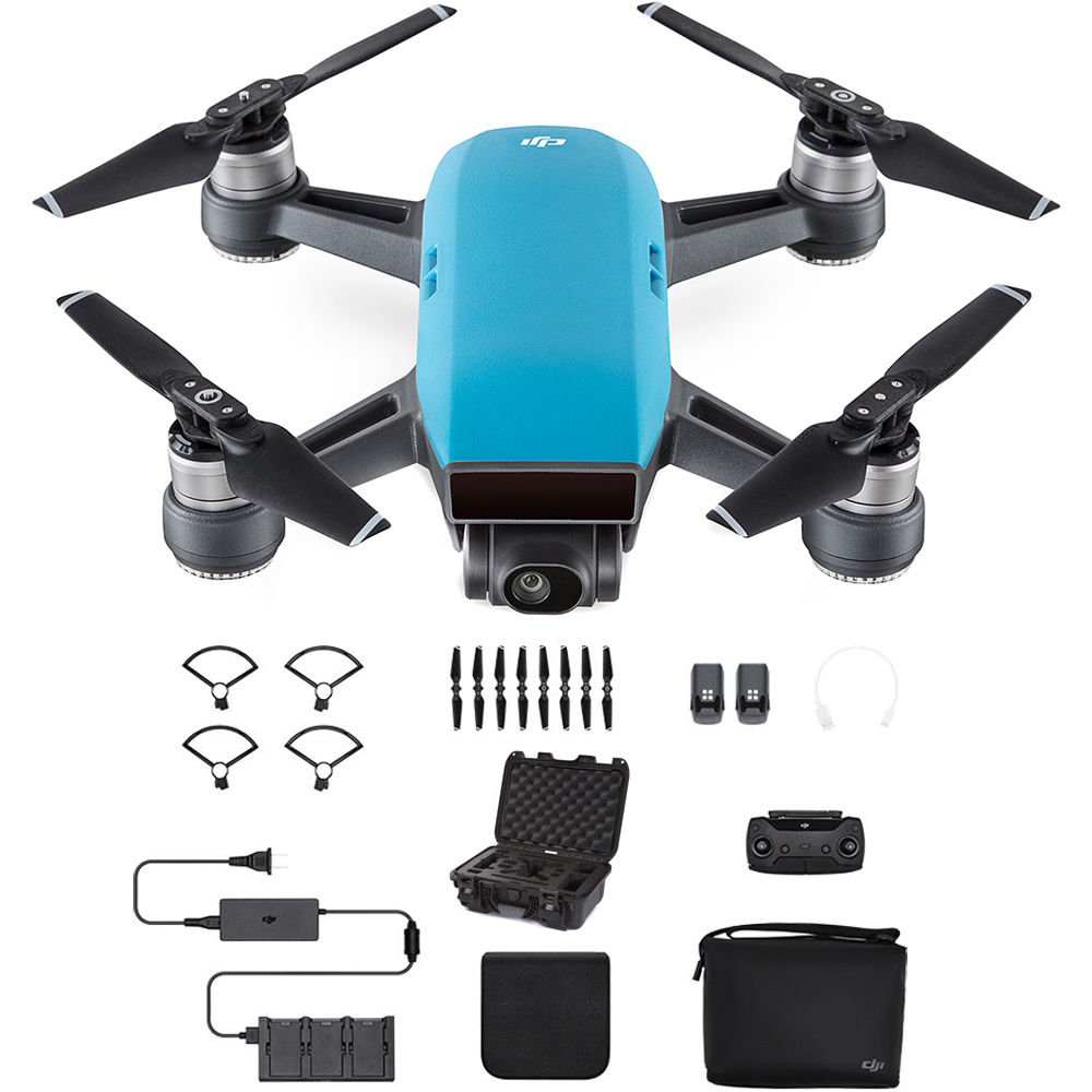 dji spark fly more combo with waterproof case kit sky blue b h. Black Bedroom Furniture Sets. Home Design Ideas