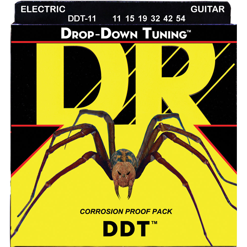 dr strings ddt drop down tuning electric guitar ddt 11 b h. Black Bedroom Furniture Sets. Home Design Ideas