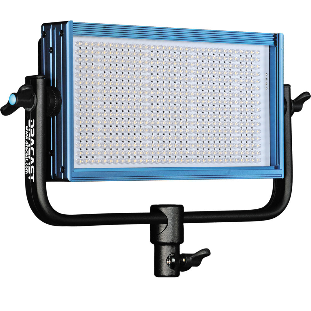 Dracast Led500 Pro Bi Color Led Light With V Mount Dr Bv Indicator For Remote Ac Loads Battery Plate