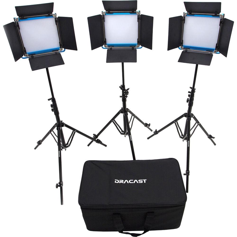 Dracast LED500 S-Series Bi-Color LED 3-Light Kit with V-  sc 1 st  Bu0026H & LED Lighting Kits | Bu0026H Photo Video azcodes.com