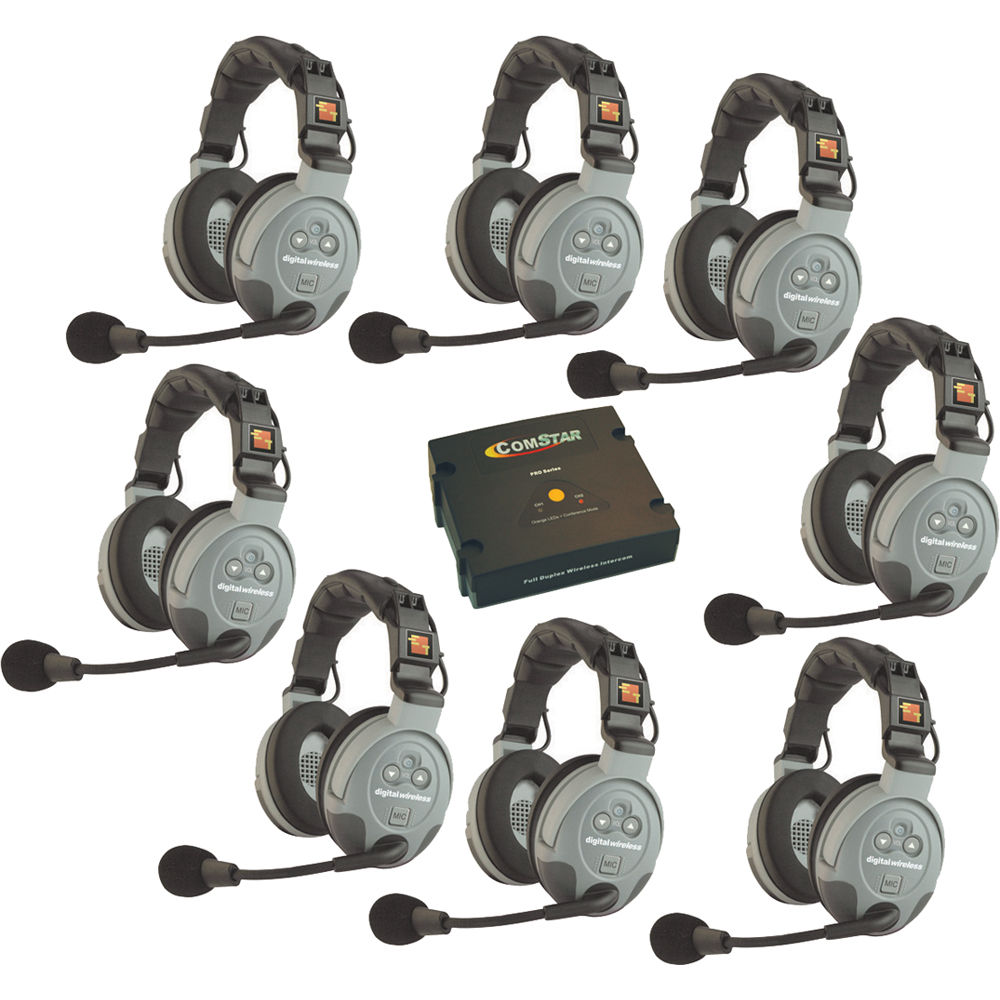 Eartec Comstar 8 Person Wireless Intercom System Xt 8 D B Amp H