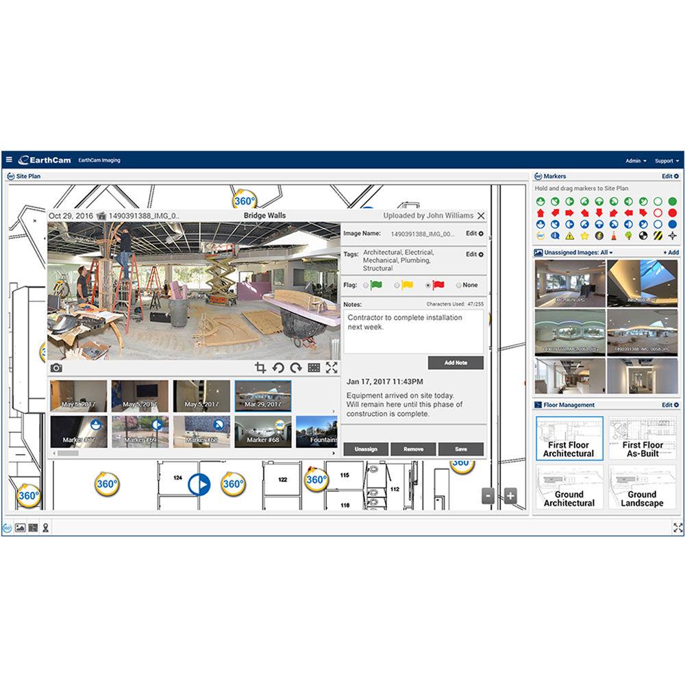 Studio Lighting Software: EarthCam Control Center 8 Photography Documentation ECSS99109