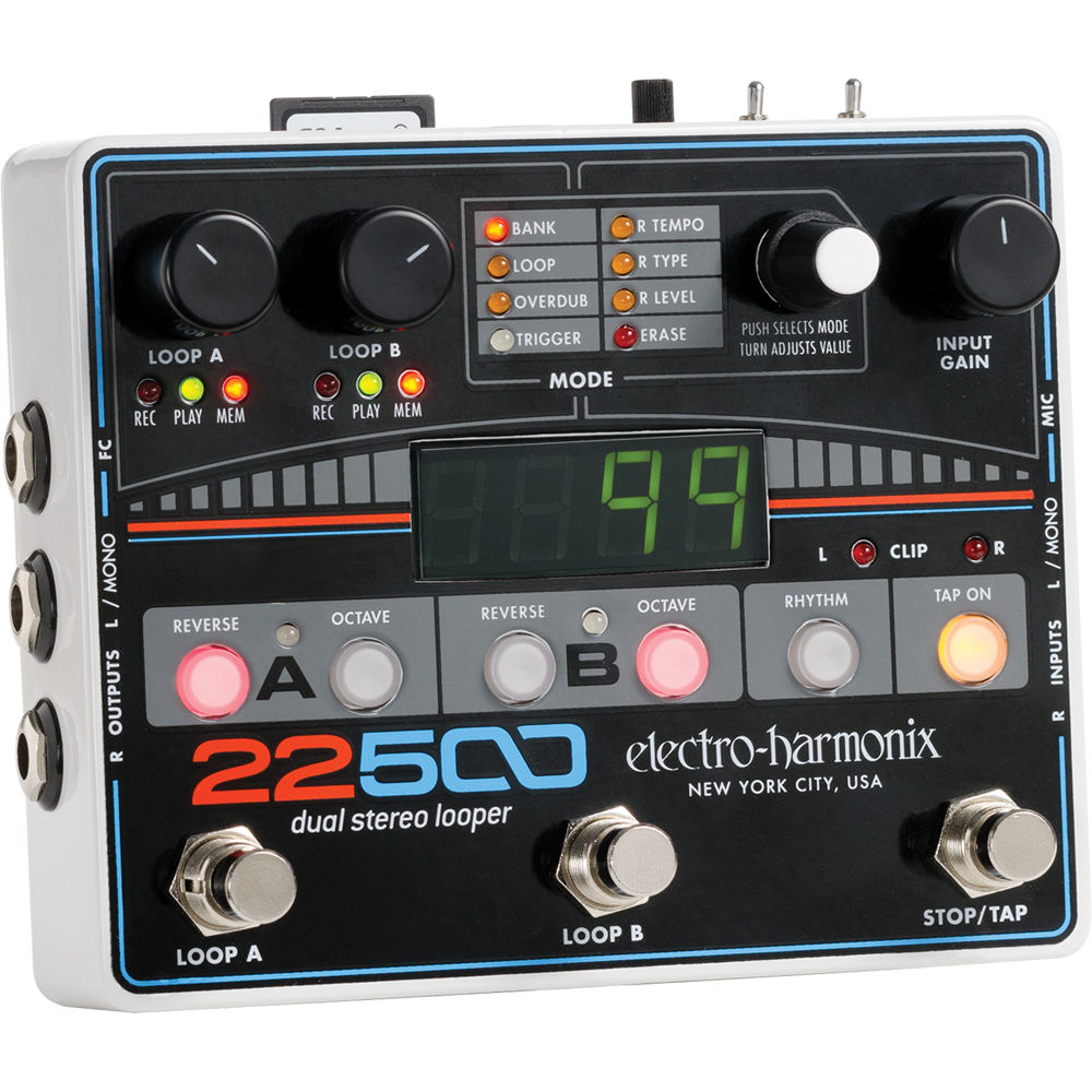 electro harmonix 22500 dual stereo looper pedal 22500 b amp h