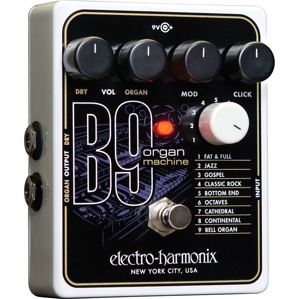 electro harmonix b9 organ machine pedal b9 b h photo video. Black Bedroom Furniture Sets. Home Design Ideas
