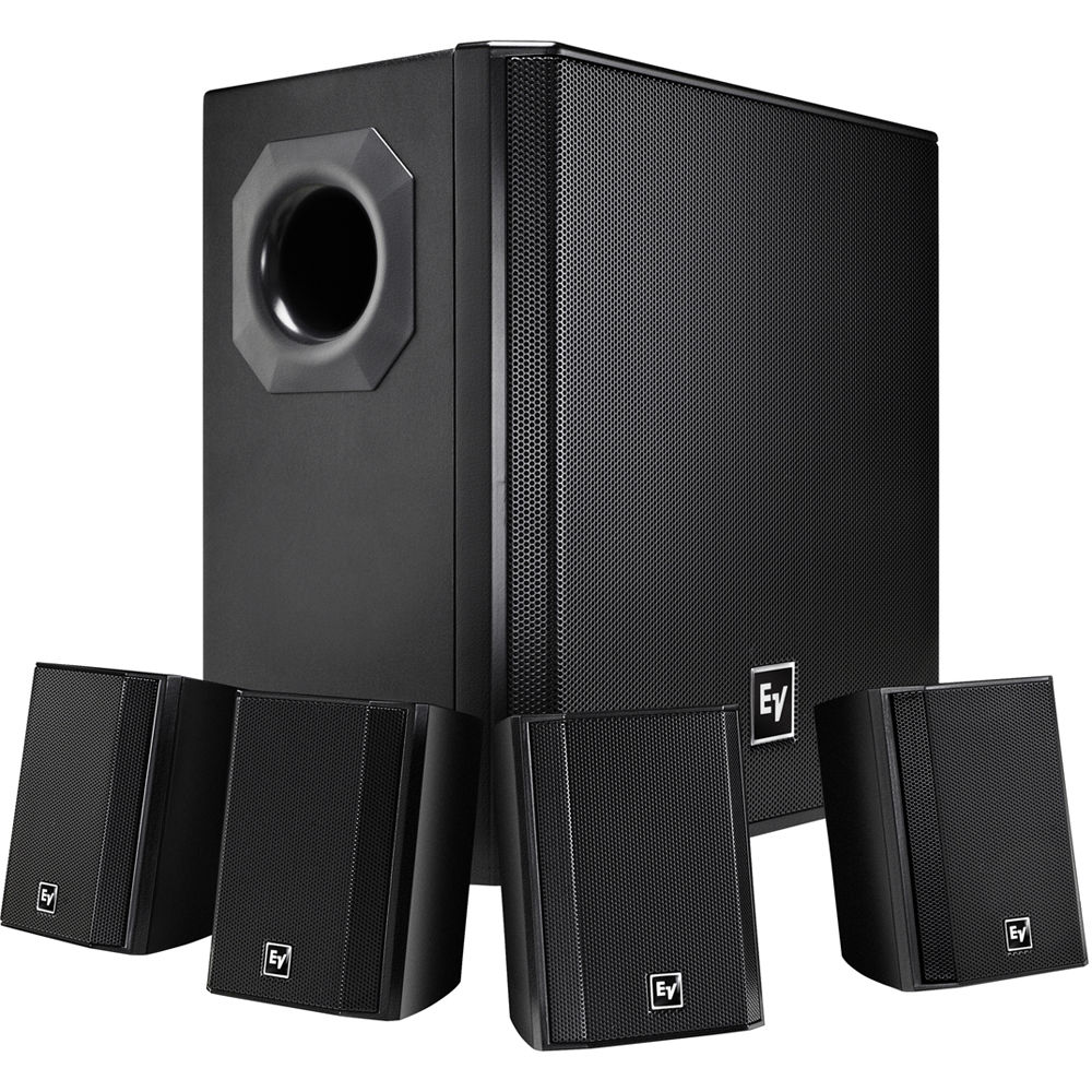 Electro-Voice EVID-S44 One Subwoofer and Four-Satellite Wall Mount Speaker  System