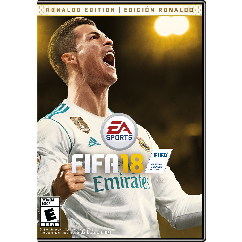 electronic arts fifa 18 ronaldo edition xbox one 73748 b h