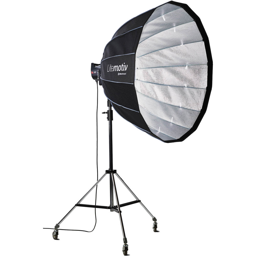 Elinchrom 500 Studio Lighting Kit: Elinchrom Litemotiv 120cm Parabolic Softbox EL28004 B&H Photo