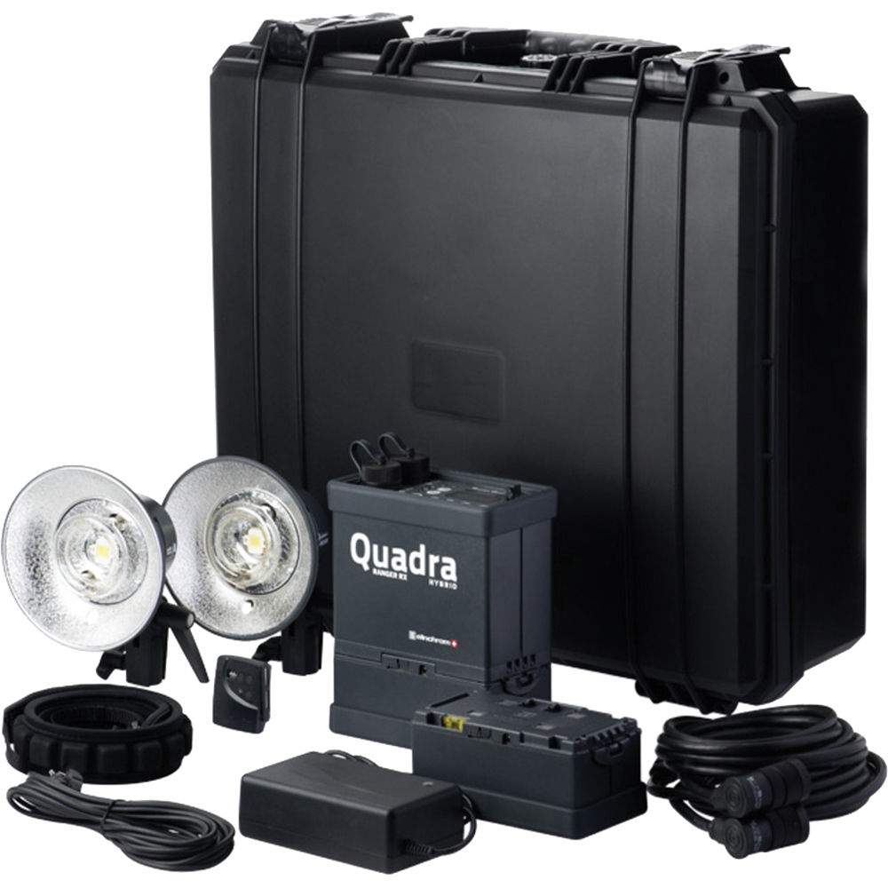 Elinchrom Frx 400 Studio Lighting Kit: Elinchrom Quadra Hybrid AS RX Battery Flash System EL 10400.1