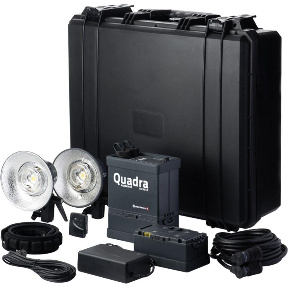 Elinchrom Quadra Hybrid Li-Ion Pro 2 Light Kit with S Flash Heads