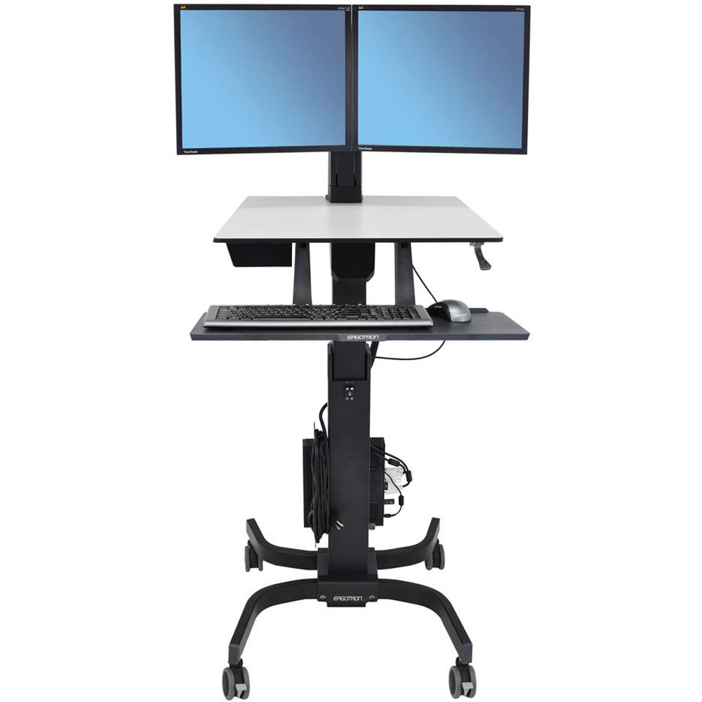 Ergotron Workfit C Dual Sit Stand Workstation Black 24