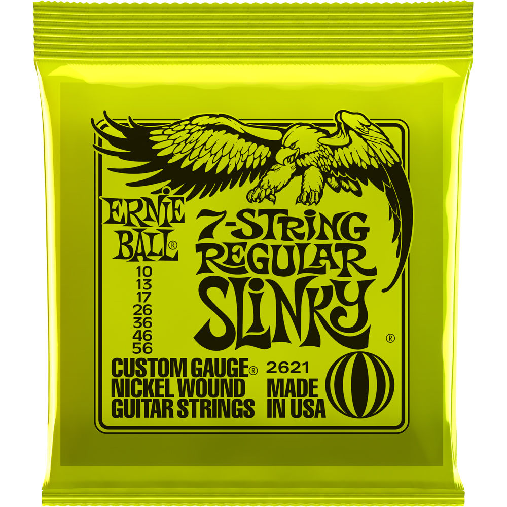 ernie ball 7 string regular slinky nickel wound electric p02621