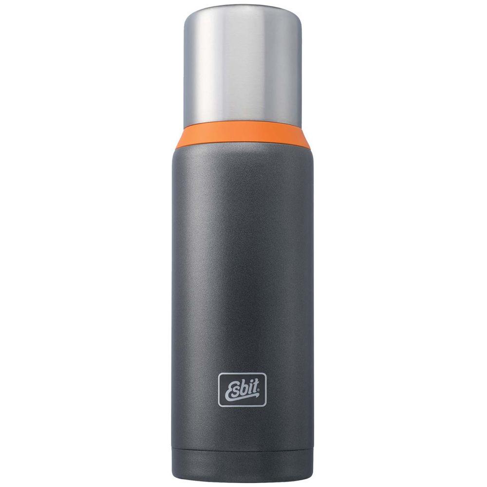 Esbit Vacuum Flask 34 Fl Oz Dark Gray Orange