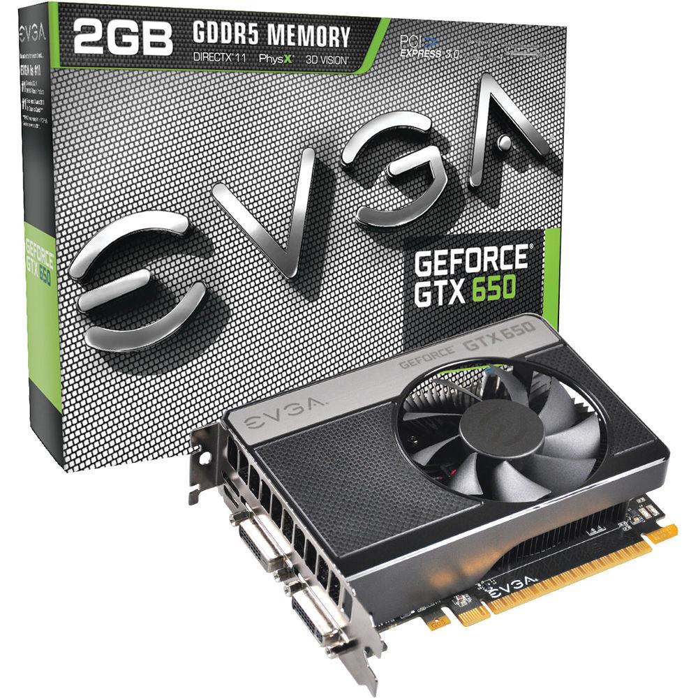 Evga Geforce Gtx650 2gb Gddr5 Graphics Card 02g P4 2651 Kr Bh Psu Pure 400w Ready 6pin Vga