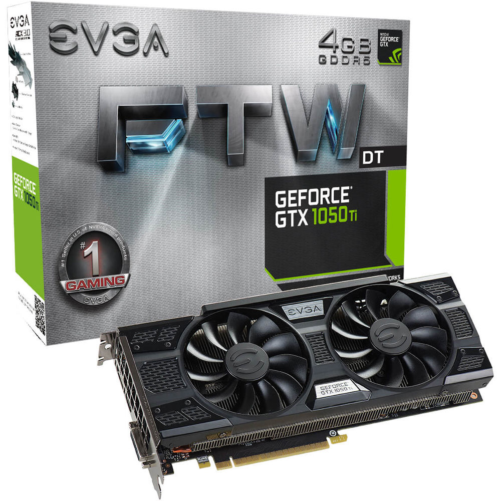 Evga Geforce Gtx 1050 Ti Ftw Dt Gaming Graphics 04g P4 6256 Kr Inno 3d 1050ti 4gb Ddr5 Compact Card