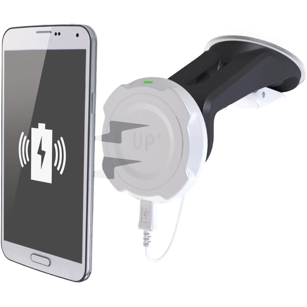 exelium up magnetic inductive charging car mount kit upm2i6s b h. Black Bedroom Furniture Sets. Home Design Ideas