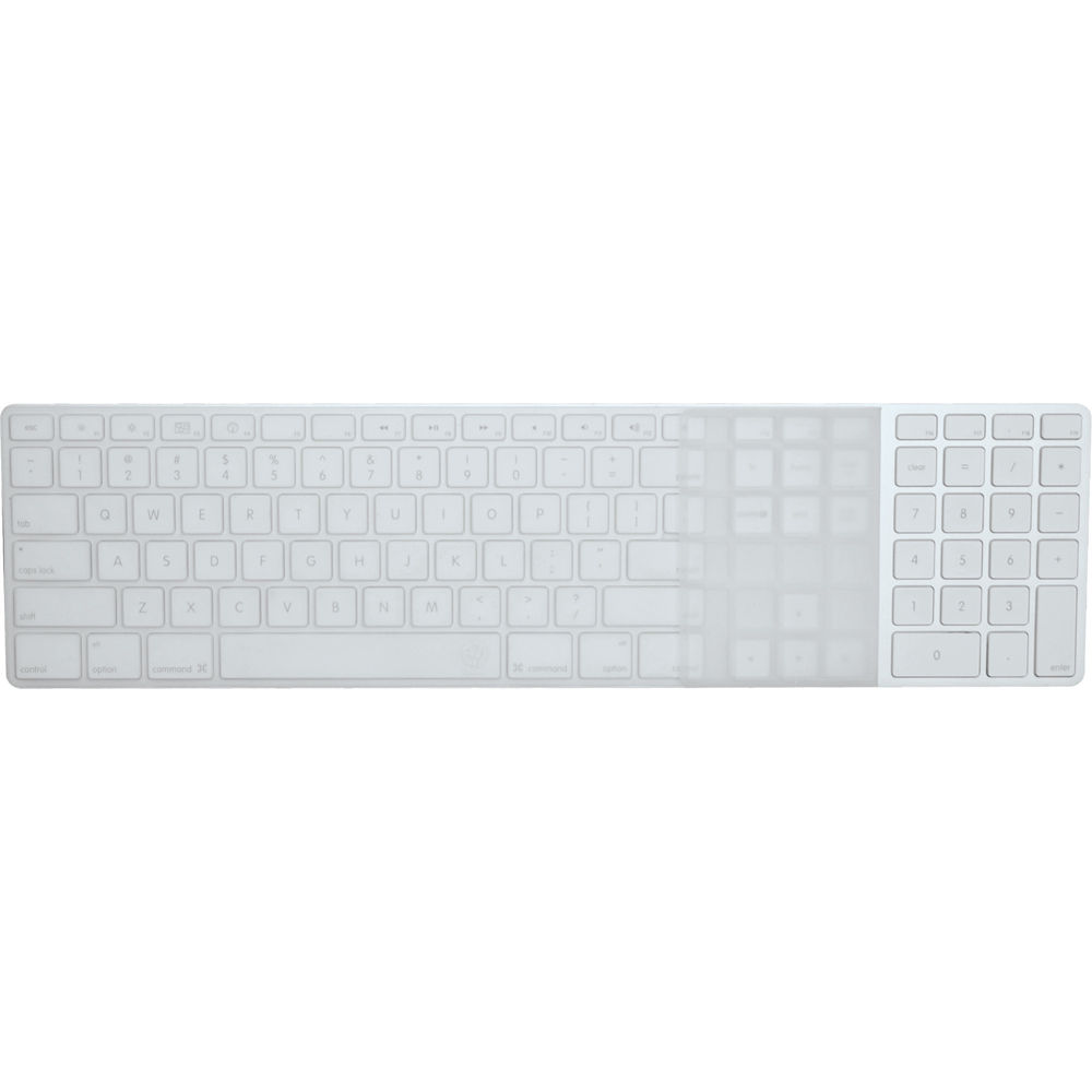 ezquest invisible ice keyboard cover for apple wired x22309 b h. Black Bedroom Furniture Sets. Home Design Ideas