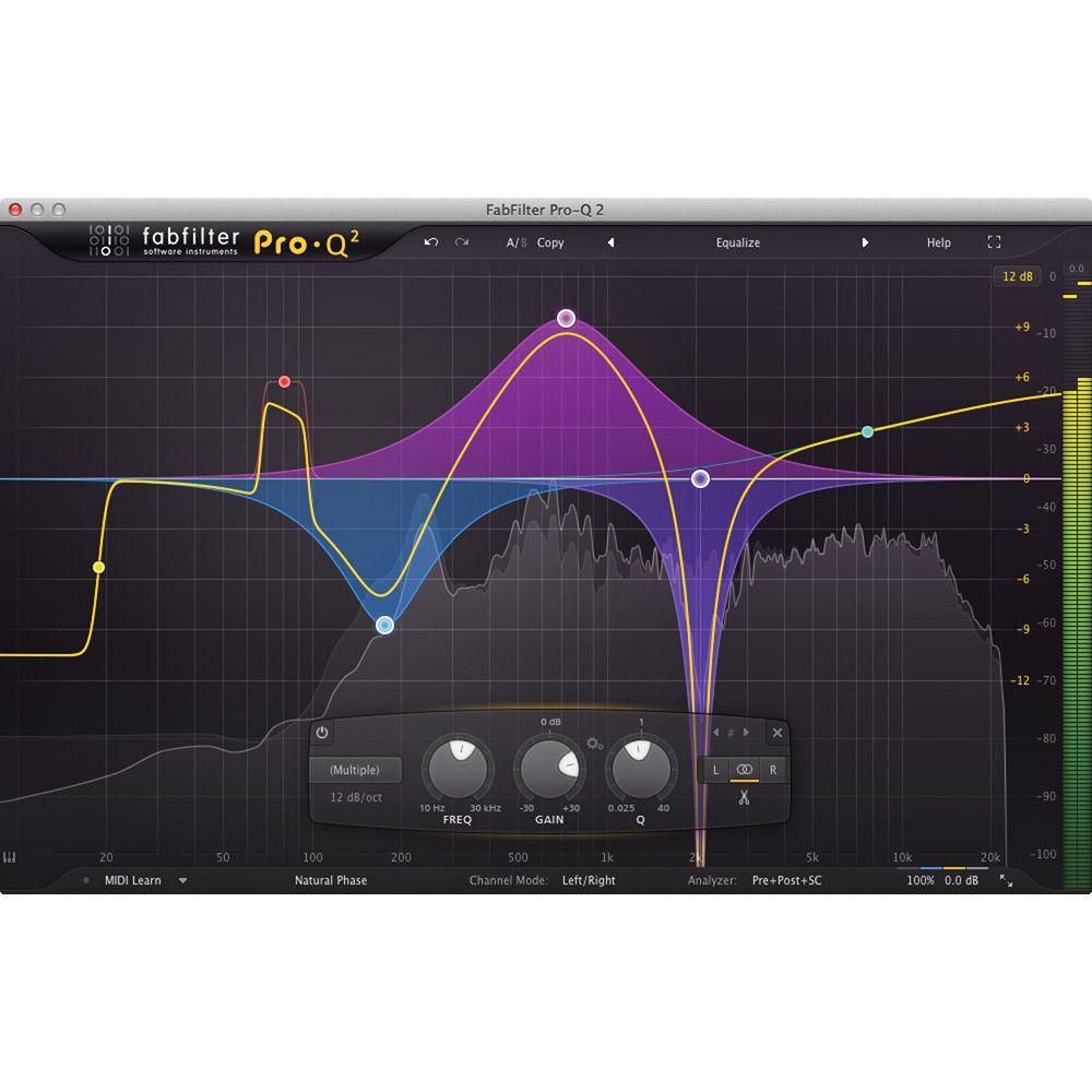 Fabfilter Pro Q2 Eq Plug In Software 11 30172 B Amp H Photo Video