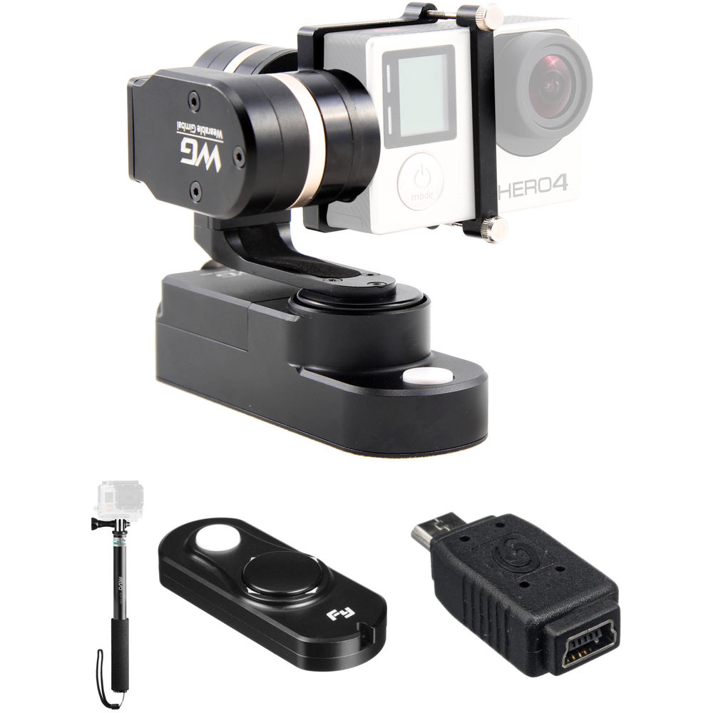 feiyu wg 3 axis wearable gimbal kit with selfie stick and remote. Black Bedroom Furniture Sets. Home Design Ideas