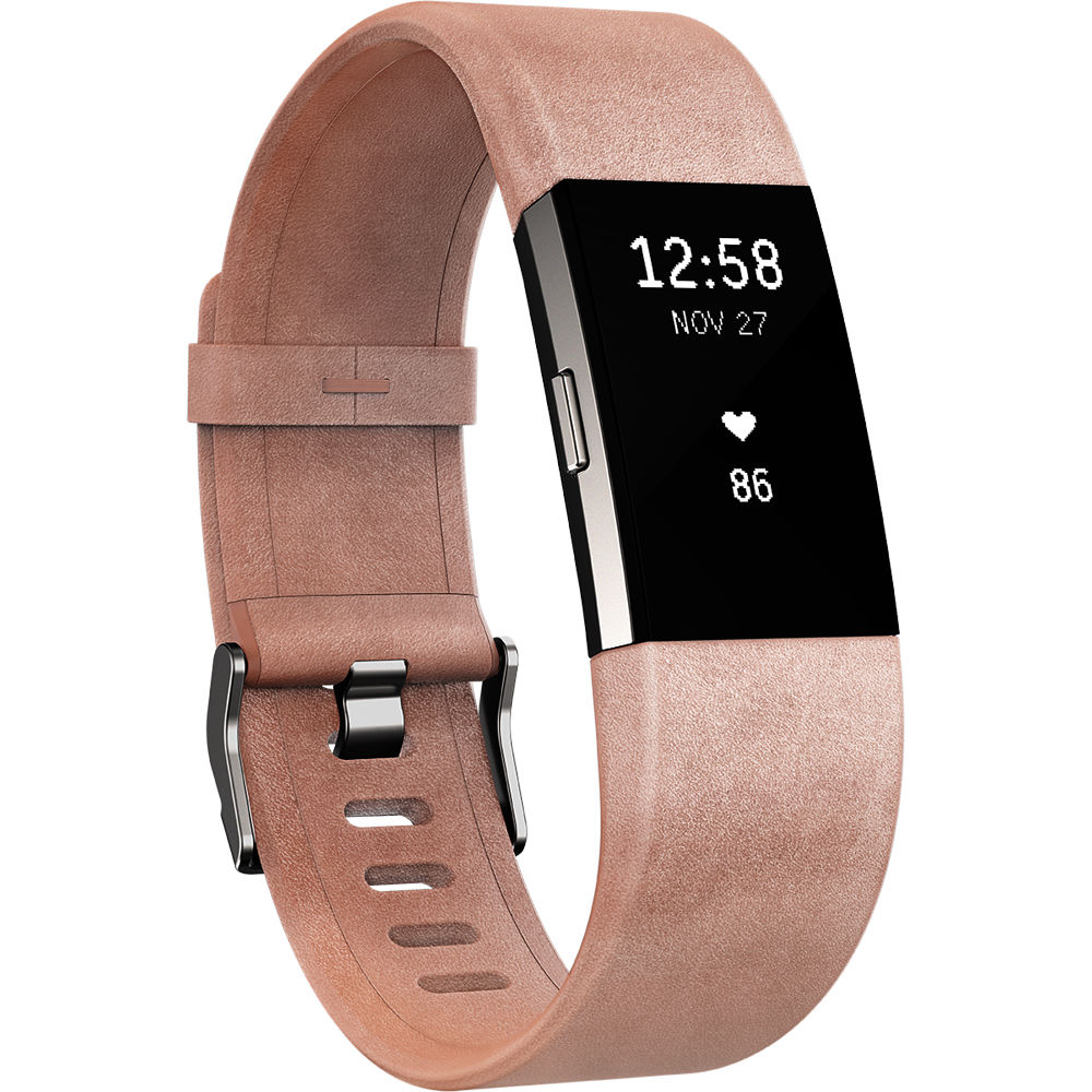 fitbit luxe leather band for fitbit charge 2 fb160lbpks b h. Black Bedroom Furniture Sets. Home Design Ideas