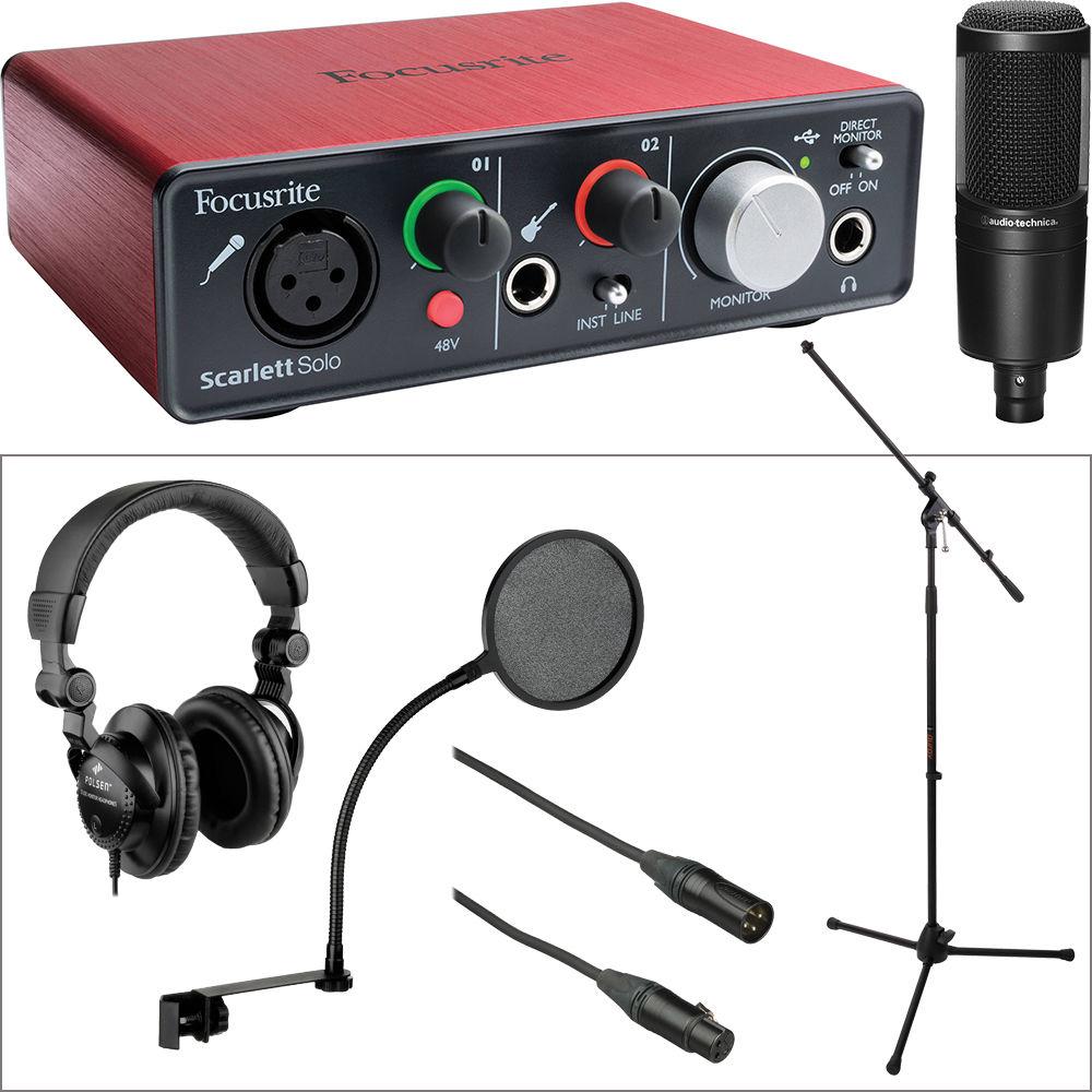 focusrite focusrite scarlett solo interface at2020 microphone. Black Bedroom Furniture Sets. Home Design Ideas