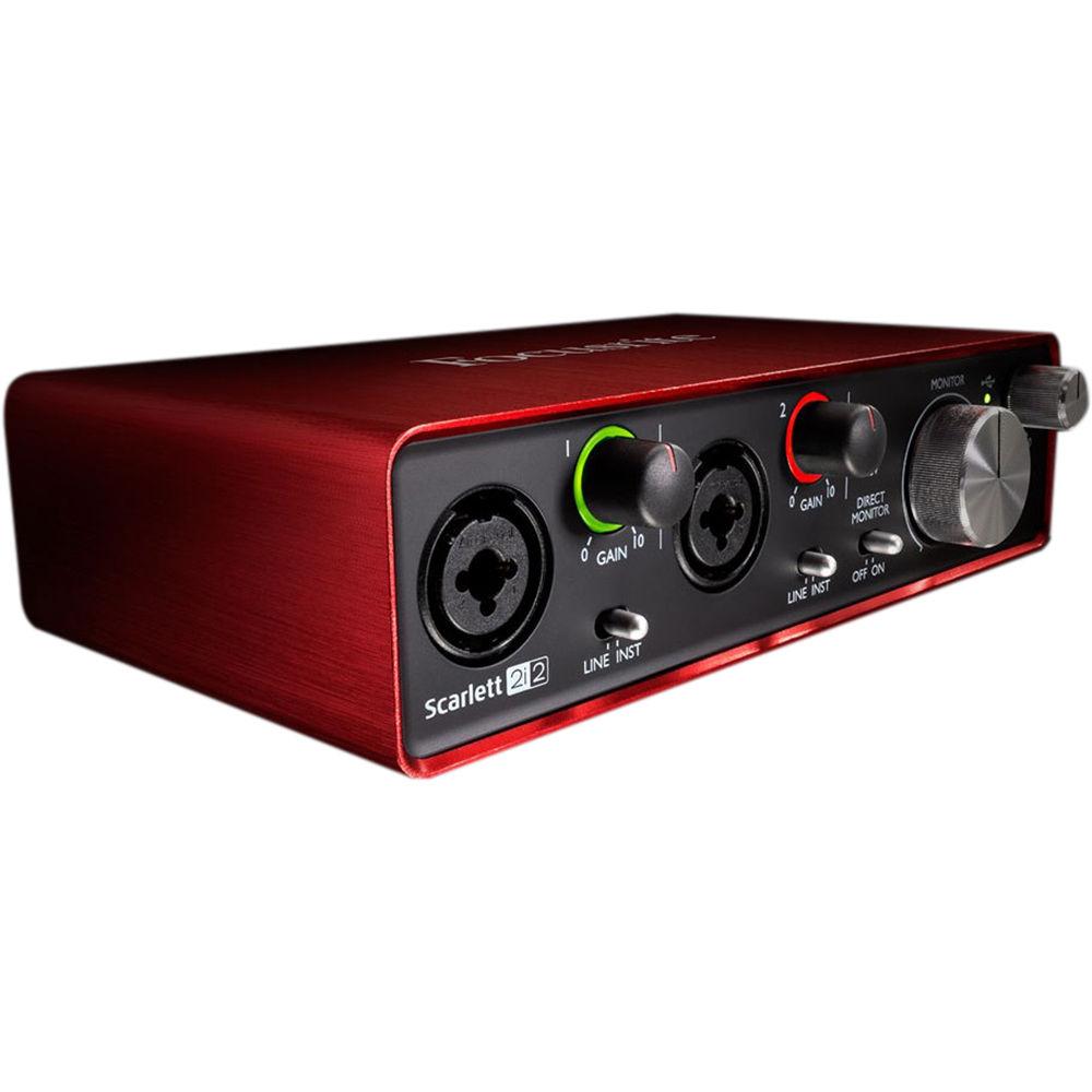 focusrite scarlett 2i2 portable usb audio scarlett 2i2 usb b h. Black Bedroom Furniture Sets. Home Design Ideas