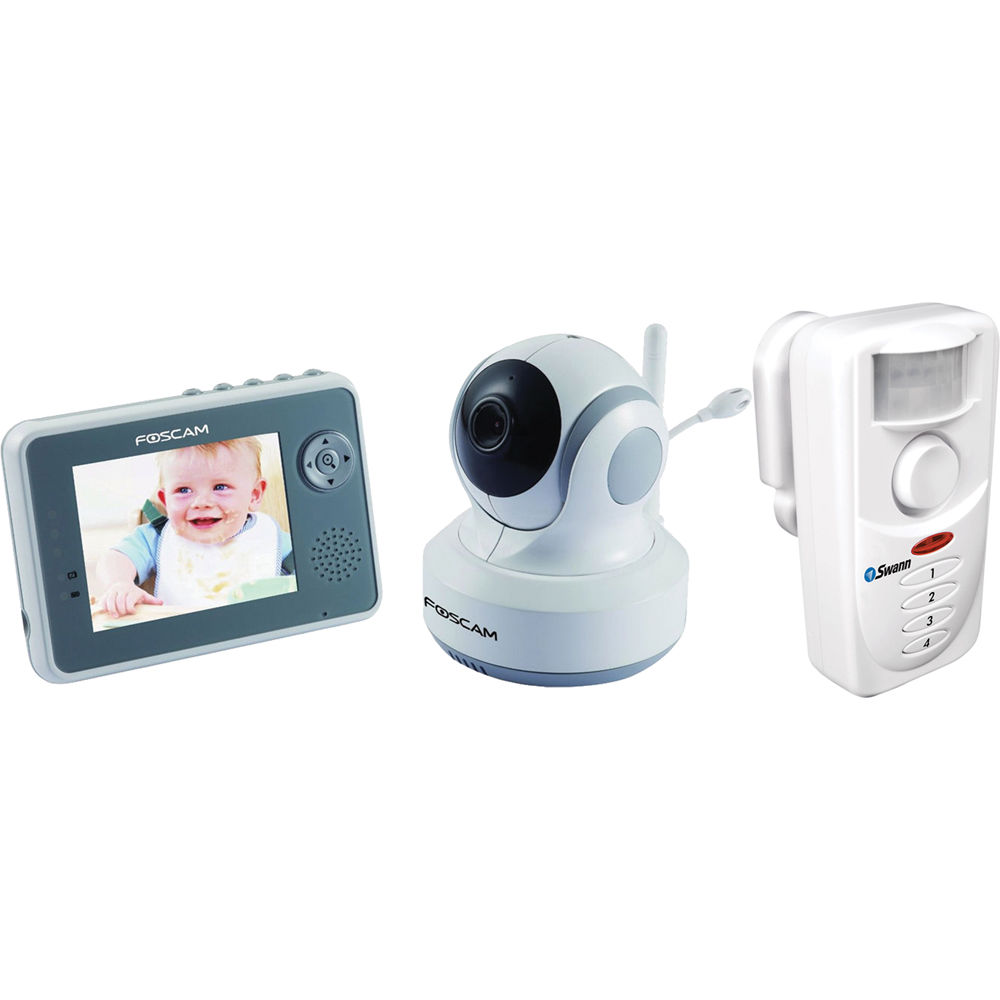 foscam digital video baby monitor with ptz camera and pir b h. Black Bedroom Furniture Sets. Home Design Ideas