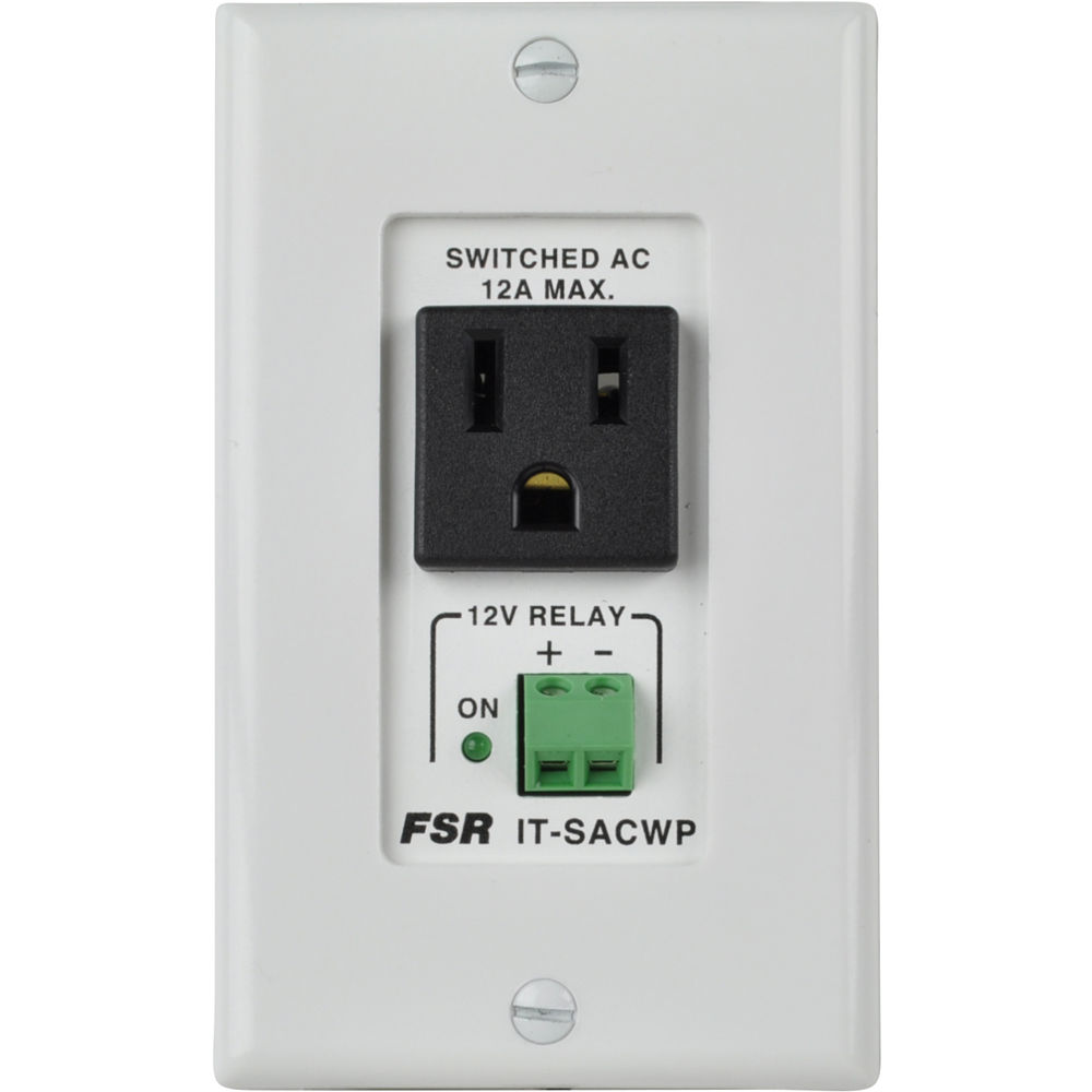 FSR Switched AC Power Outlet Wallplate with 12 VDC IT-SACWP-12