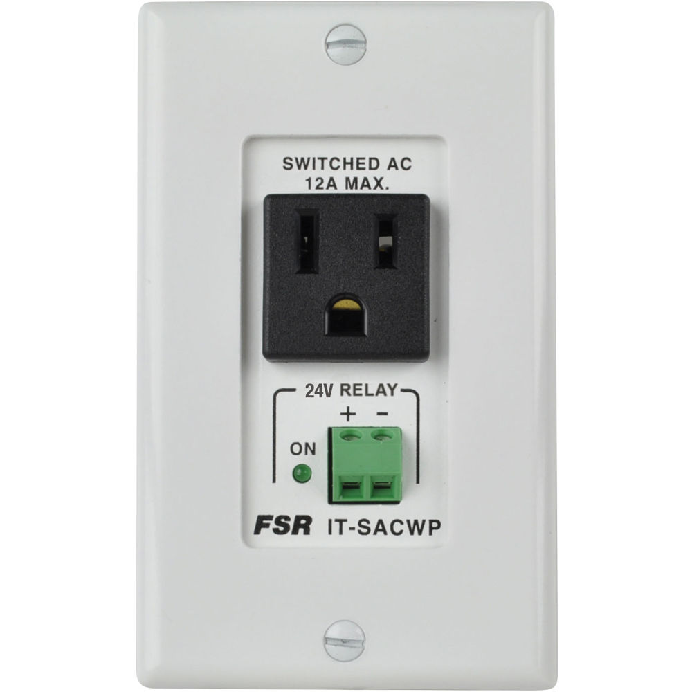 Fsr Switched Ac Power Outlet Wall Plate With 24 Vdc It
