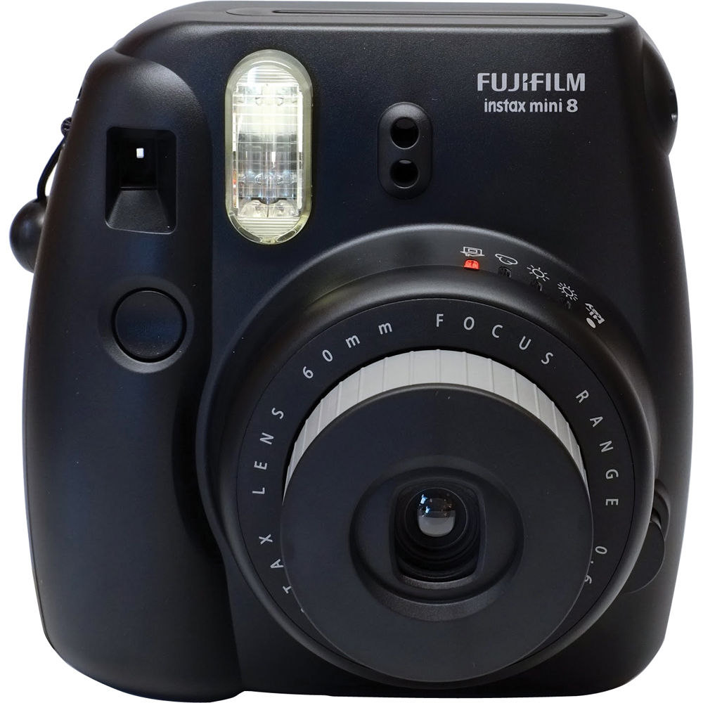 fujifilm instax mini 8 instant film camera black. Black Bedroom Furniture Sets. Home Design Ideas