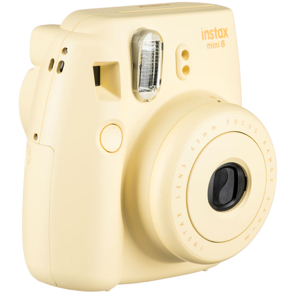 Fujifilm instax mini 8 Instant Film Camera (Yellow) 16273441 B&H