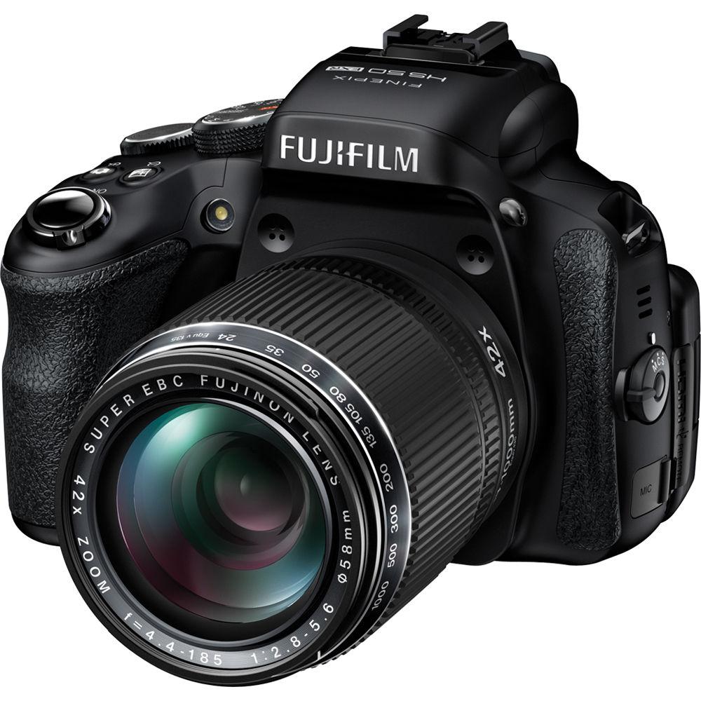 Fuji Digital Cameras: FUJIFILM FinePix HS50EXR Digital Camera 16286412 B&H Photo