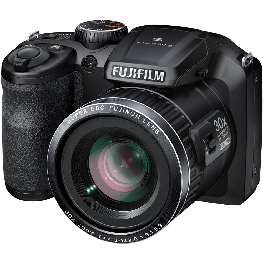 Fuji Digital Cameras: Fujifilm FinePix S6800 Digital Camera (Black) 16303014 B&H