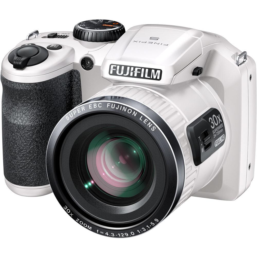 Fuji Camera: FUJIFILM FinePix S6800 Digital Camera (White) 16303337 B&H