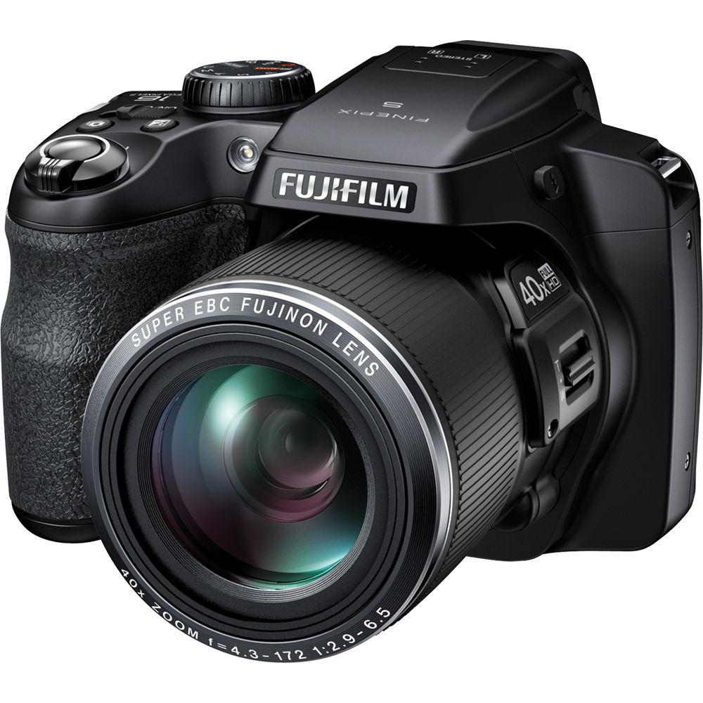 Fujifilm Finepix S8200 Digital Camera Black 16303557 B Amp H