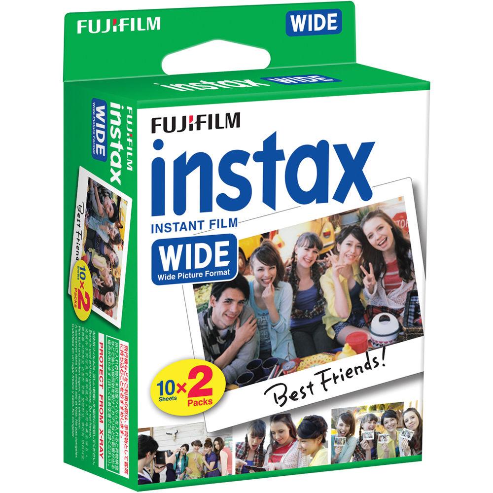 Fujifilm Instax Wide Instant Film 20 Exposures 16385995 B Amp H