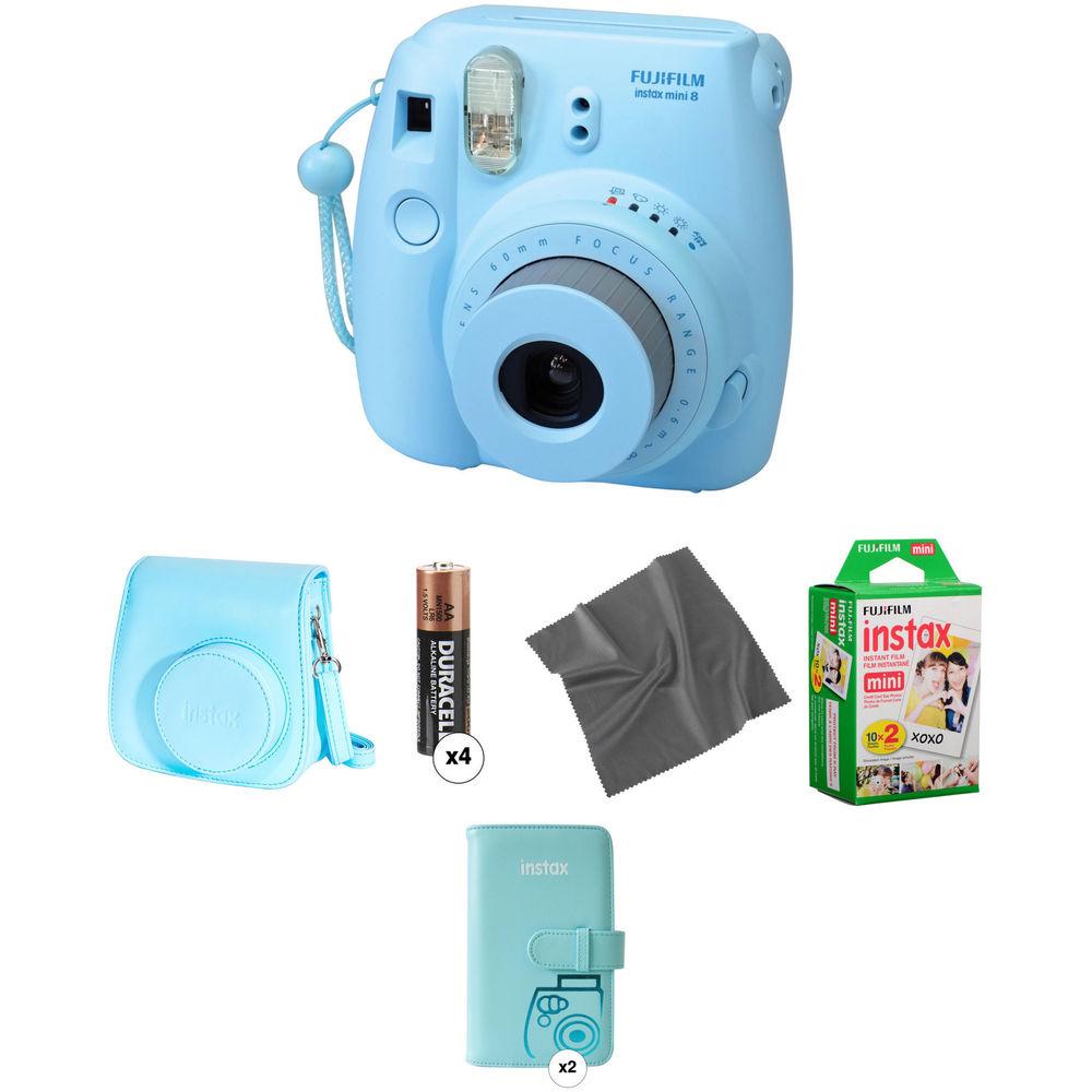 fujifilm instax mini 8 instant film camera pro kit blue b h. Black Bedroom Furniture Sets. Home Design Ideas