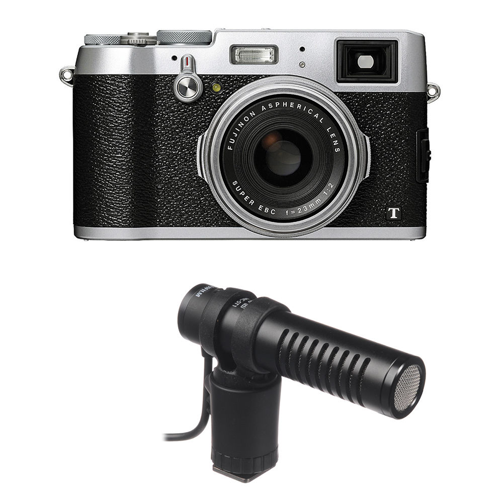 Fujifilm X100T Digital Camera Basic Kit Silver