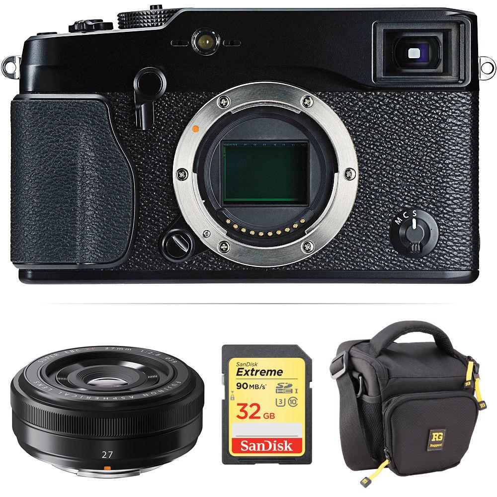 fujifilm x pro1 mirrorless digital camera with 27mm lens kit b h. Black Bedroom Furniture Sets. Home Design Ideas