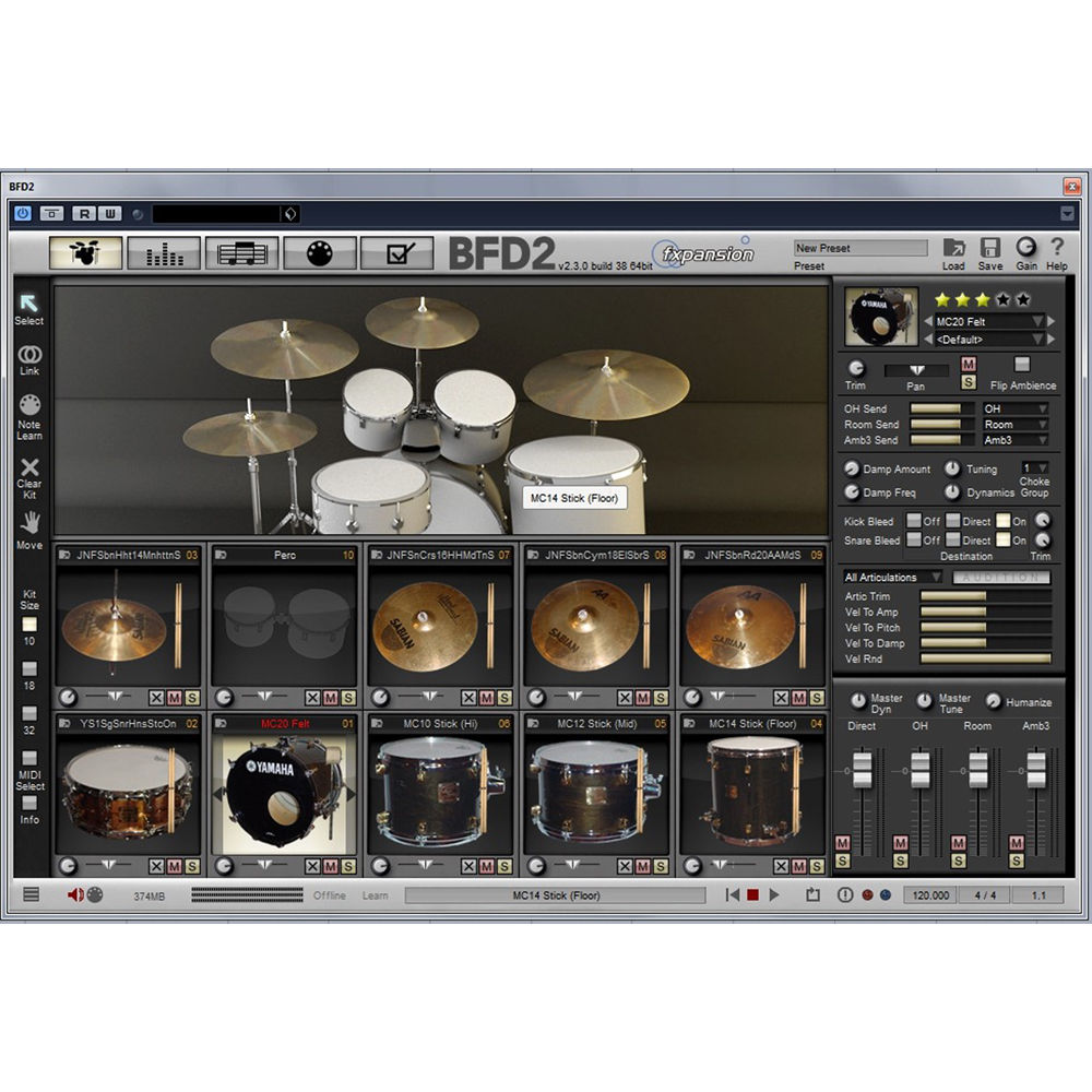 BFD Jazz Maple - Expansion Pack for BFD3, BFD Eco, BFD2 (Download)