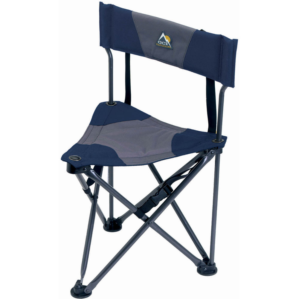 Gci Outdoor Quik E Seat Stool With Padded Backrest 19014 B Amp H