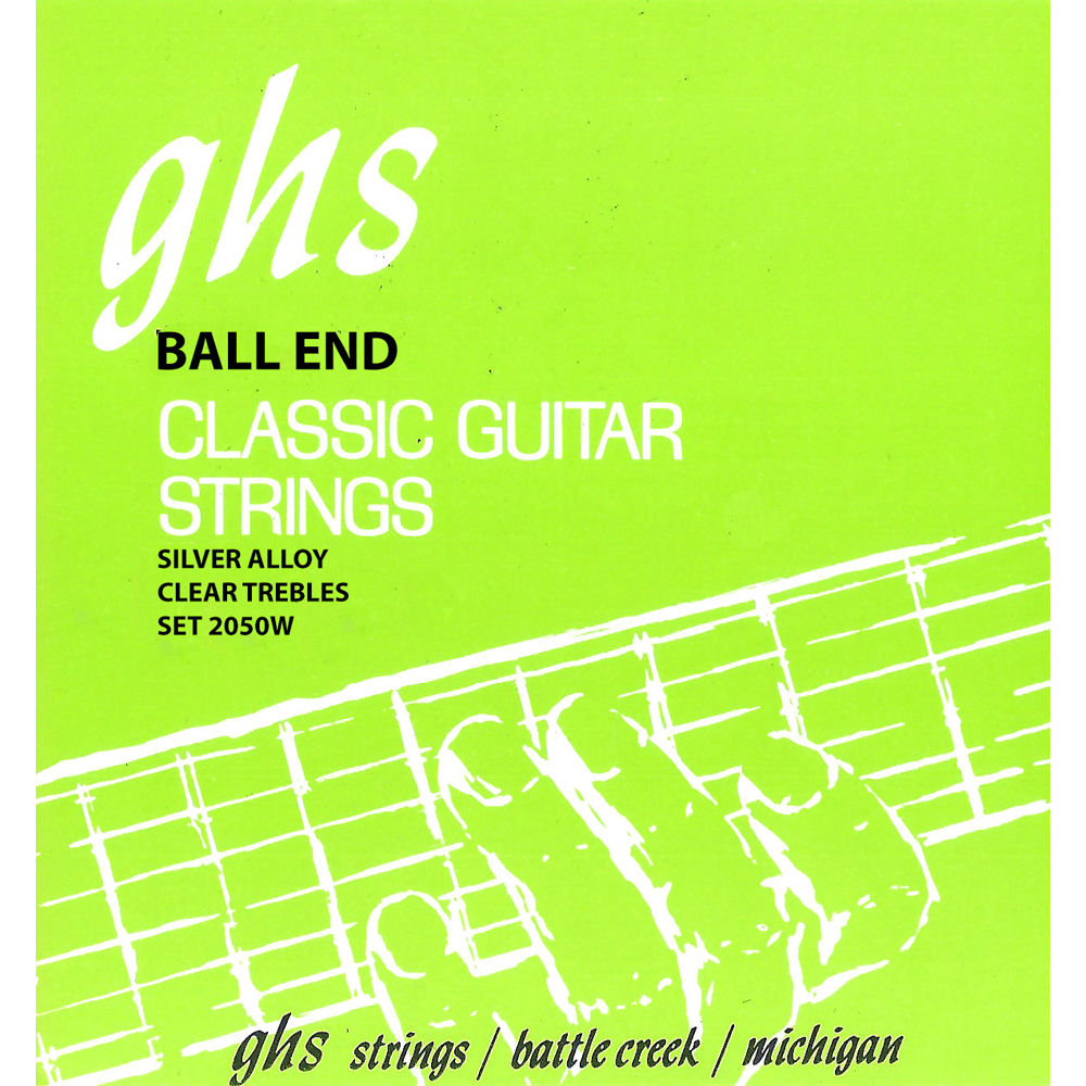 2050w Ball End Regular Classics With Silver Copper Basses Classical Guitar Strings 6 String Set High Tension 28 43 Diagram Ghs