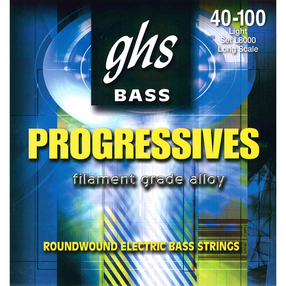 Ghs L8000 Light Bass Progressives Roundwound Electric Bass L8000