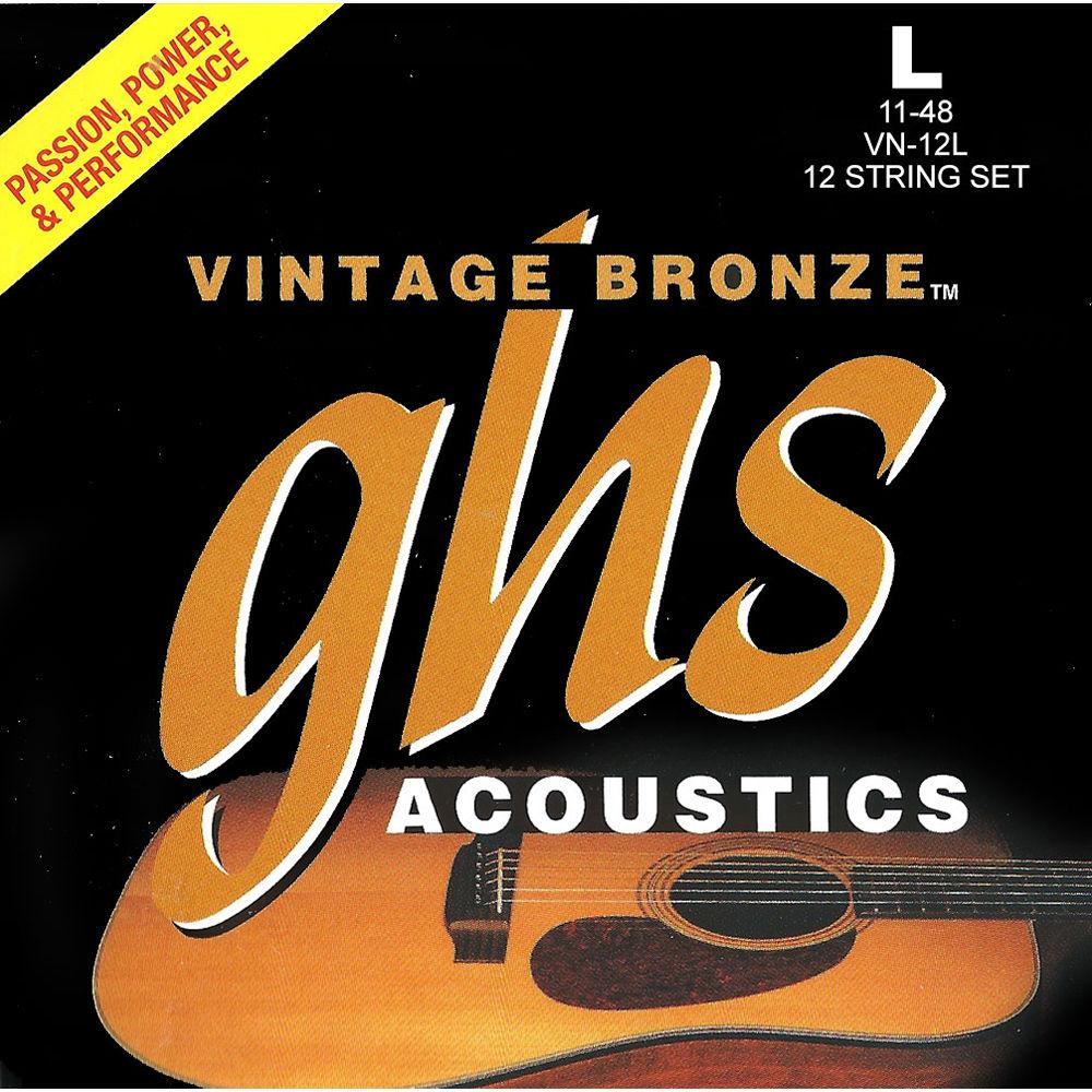 ghs vn 12l light vintage bronze acoustic guitar strings vn 12l. Black Bedroom Furniture Sets. Home Design Ideas