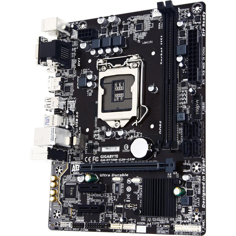 Gigabyte H110M LGA 1151 Micro-ATX Motherboard GA-H110M-S2H-GSM-B