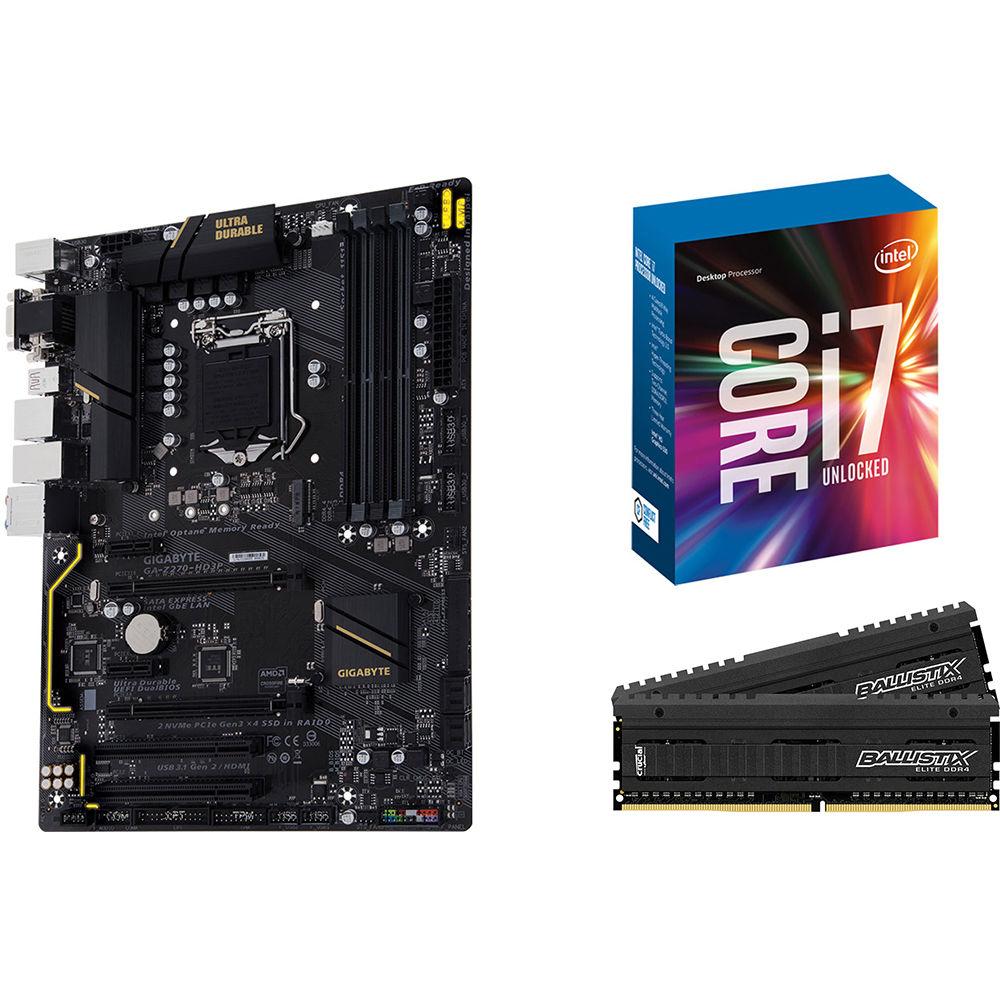 Gigabyte GA-Z270-HD3P LGA 1151 ATX Motherboard, Intel Core B\u0026H