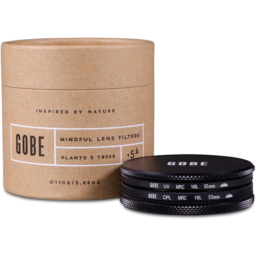 3Peak Circular Polarizing Lens Filter Kit Gobe 55mm UV CPL