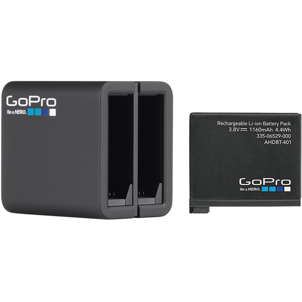gopro dual battery charger with battery for hero4 ahbbp. Black Bedroom Furniture Sets. Home Design Ideas