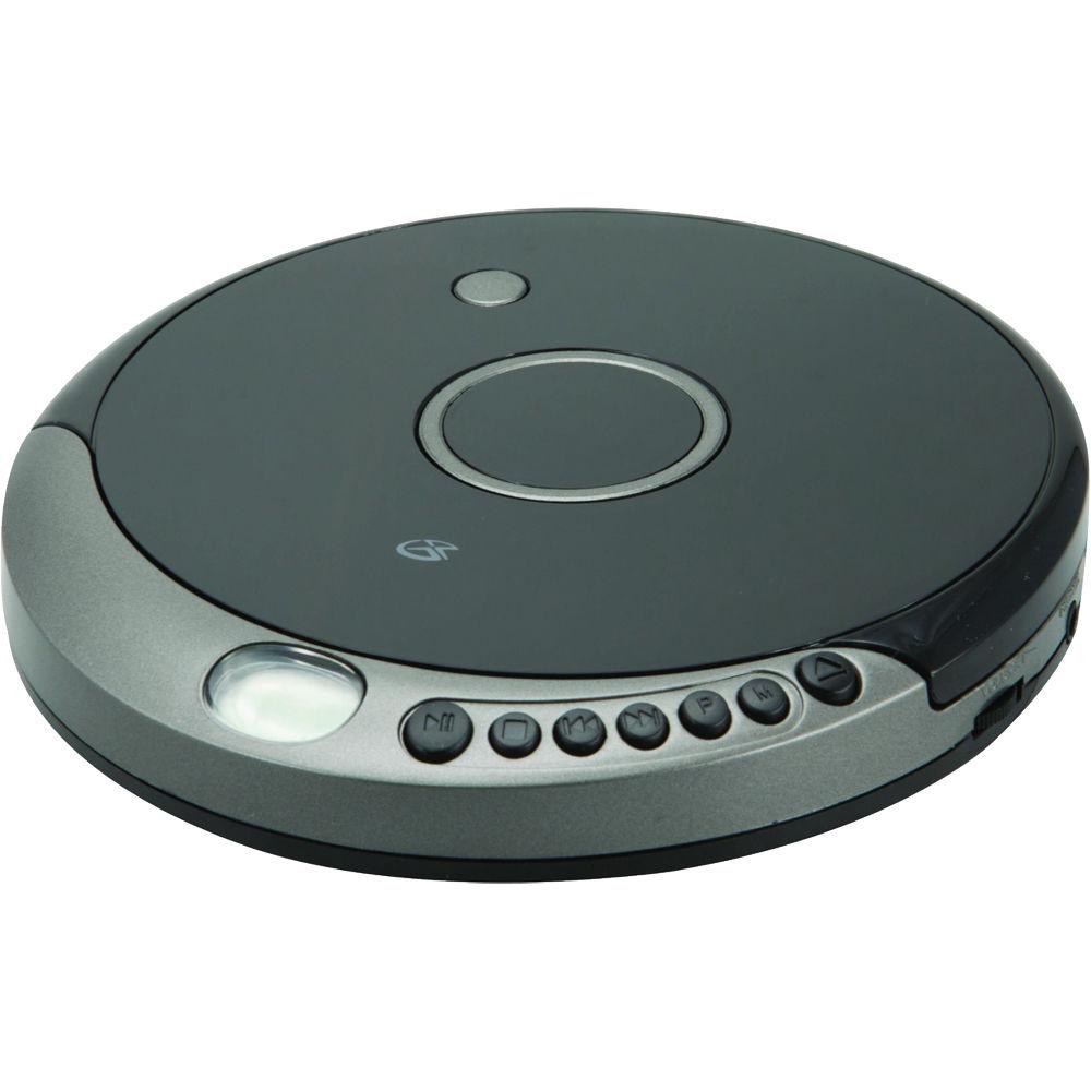 gpx anti skip portable cd mp3 player pc807b b h photo video. Black Bedroom Furniture Sets. Home Design Ideas